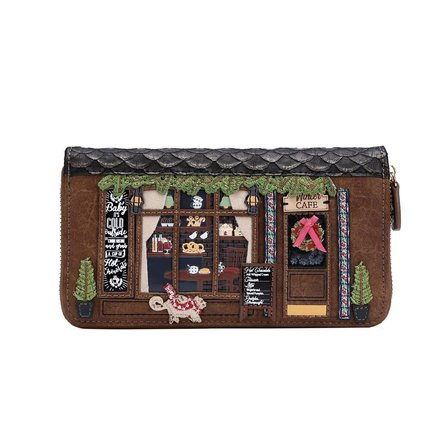 VENDULA Winter Cafe Large Zip Around Wallet