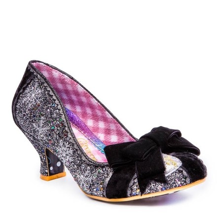 IRREGULAR CHOICE Snow Queen Black and Silver