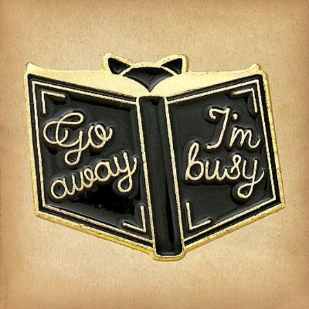 THE ROCKABILLY SHOP Go Away I'm Busy Enamel Pin
