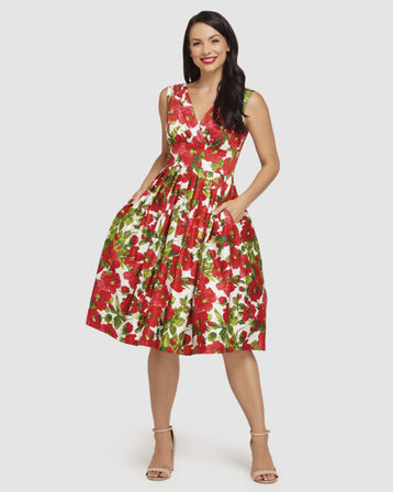 RETROSPEC'D Vivian Sweet Romance Red Dress