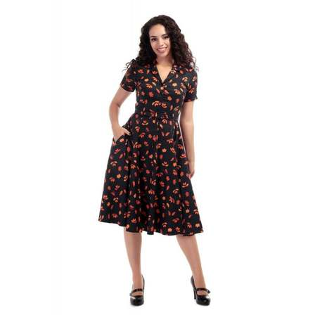 COLLECTIF Caterina Acorn Swing Dress