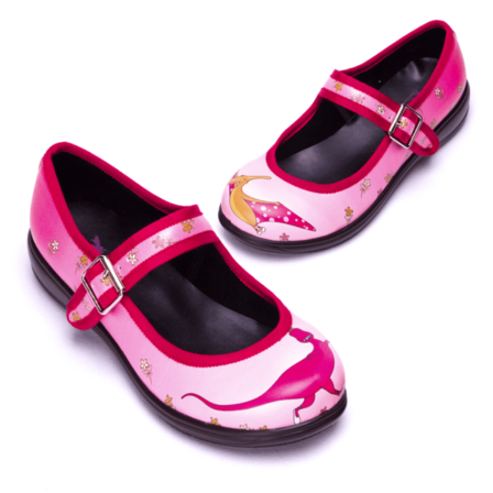 RAINBOWS AND FAIRIES Dinoquirky Mismatched Mary Jane Flats