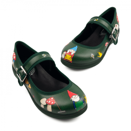 RAINBOWS AND FAIRIES Mr And Mrs Gnome Mismatched Mary Jane Flats