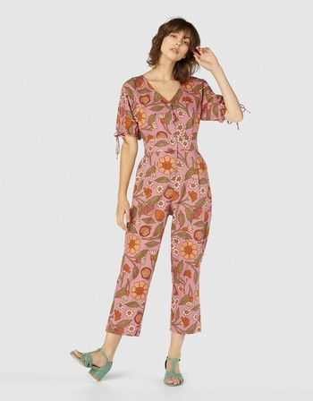 DANGERFIELD Fruits And Flora Playsuit Pink