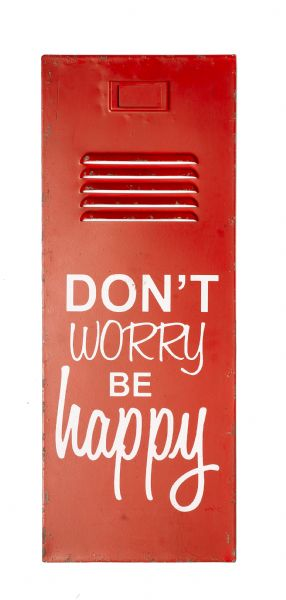 New General Eclectic Locker Door Sign 'Don't Worry, Be Happy'