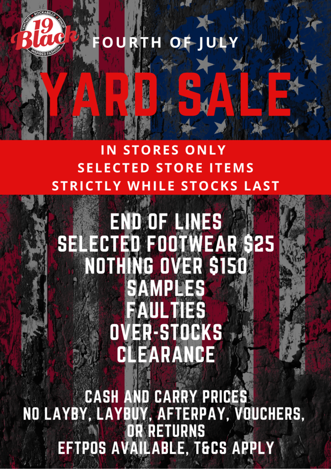 Fourth Of July Yard Sale